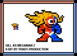 Gill as Megaman 2 style by TRADT-PRODUCTION