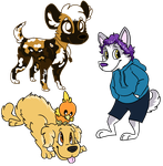 Canine Doodles by Erudi