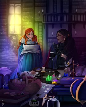 Shallan And Jasnah Hanging Out In The Library by Nadi4rt