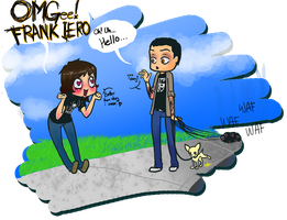Frank Iero and ChibiChimp by SteVanity