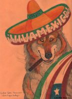 Mexican Grey Wolf Envelope by Lorfis-Aniu
