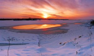 winter_sunset_panorama by victor23081981