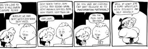Belated Halloween+100th Strip by kevinbolk