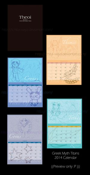 Greek Myth Chibi Titans Calendar Preview