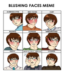 Blushing Meme - Andy by Bluejotain