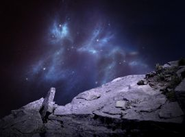 purple cosmos rock premade bg by venomxbaby