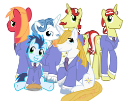 Commission: Ouran  Host Club MLP version by vcm1824