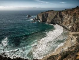 Big Sur Bixby Bridge Cove by Creative--Dragon