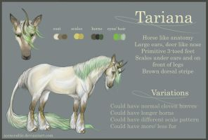 Tariana Reference Sheet by scenceable
