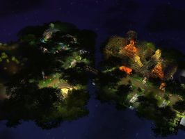RCT3 Jungle at night by Coasterdl