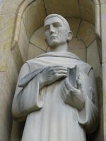 00115 - Monk Statue with Book and Quill by emstock