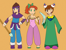 Secret of Mana Outfits by Sixala