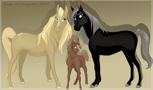 Horse family by MilGoncalez