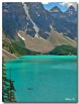 Blue waters of Moraine Lake by Ann75