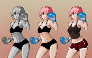 Boxing Girl by Bontah