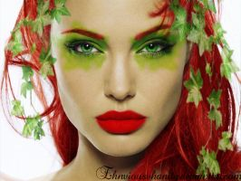Angelina Jolie as Poison Ivy by EhnviousVhanity