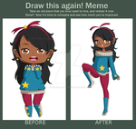 Before And After Meme - OC: Star by deliciouskaek