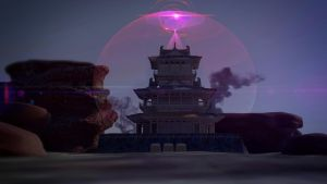The Japanese Castle of Magic Vortex by Binary-Map