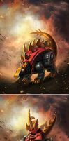TRANSFORMERS LEGENDS Snarl by manbu1977