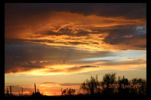 Golden Rays Monsoon Sunset 3 by RooCat