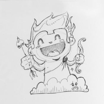 Chibi Cupid by epimetheus