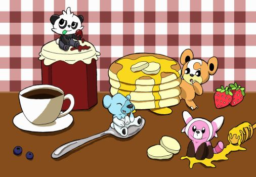 Bear Breakfest by 29steph5