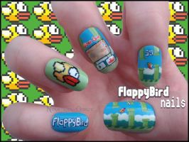 Flappy Bird Nails by Ninails