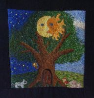tree embroidery by nyankorita