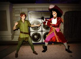 Peter Pan and Hook by dismaldreary