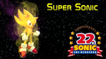 Super Sonic Wallpaper (22 anniversary) by JanetAteHer