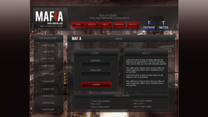 Mafia Game login v2 by Kinetic9074