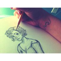 Drawing with a Tattoo... by KatarinaDelgado