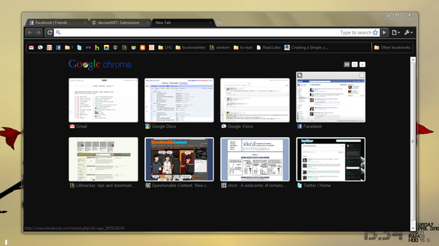 Dark Transparent Google Chrome by cathos13