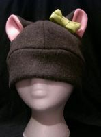 Dark Gray Kitty With Bow by kittyhats