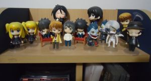 Death Note + Kuroshitsuji Nendoroid collection by GiriPan95