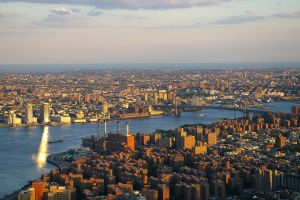 Brooklyn from the Empire State Building by nikischlicki