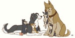 Destiel pups by FourDirtyPaws