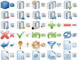 Database Toolbar Icons by Ikont