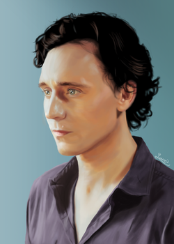 Tom Hiddleston Study by aizercul