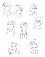 Composition of faces by Thelittlefairy95