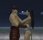 Liu and Kitana - Romantic night by dim1988