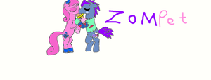 Zompet Kissing (Ponies) by poppetrocks278