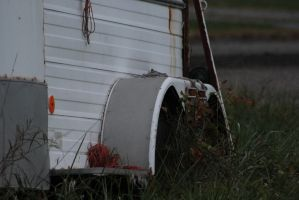 Old Trailer by SabLynnPhotography