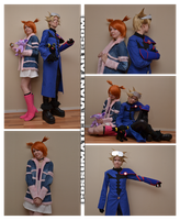 Pokemon Colosseum Wes and Rui cosplay by Possumato