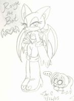 Crappy drawing of Rouge XD by Jen-C