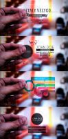 5 in 1 Transparent Business Cards by vitalyvelygo