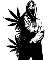 2pac Weed Stencil by SeanJJ