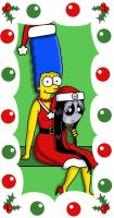Xmas with Marge and Misery by broad86new
