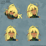 Expression Practice: Elven Archer by RoninDude