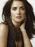 Selma Hayek Photo Mosaic by whendt